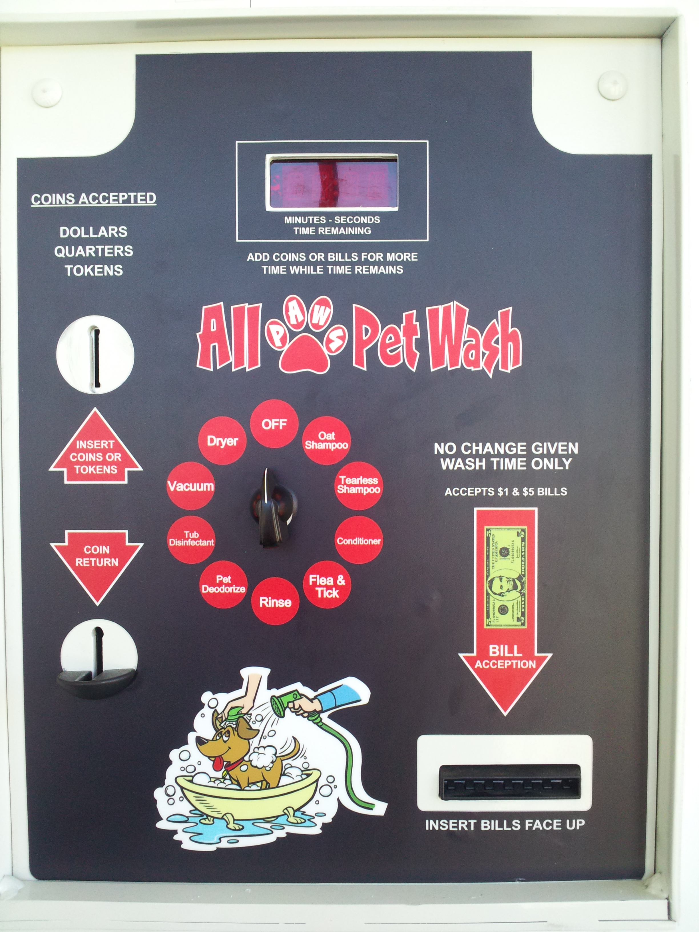 Coin operated pet wash dog bathing station all paws pet wash coin operated dog wash solutioingenieria Choice Image