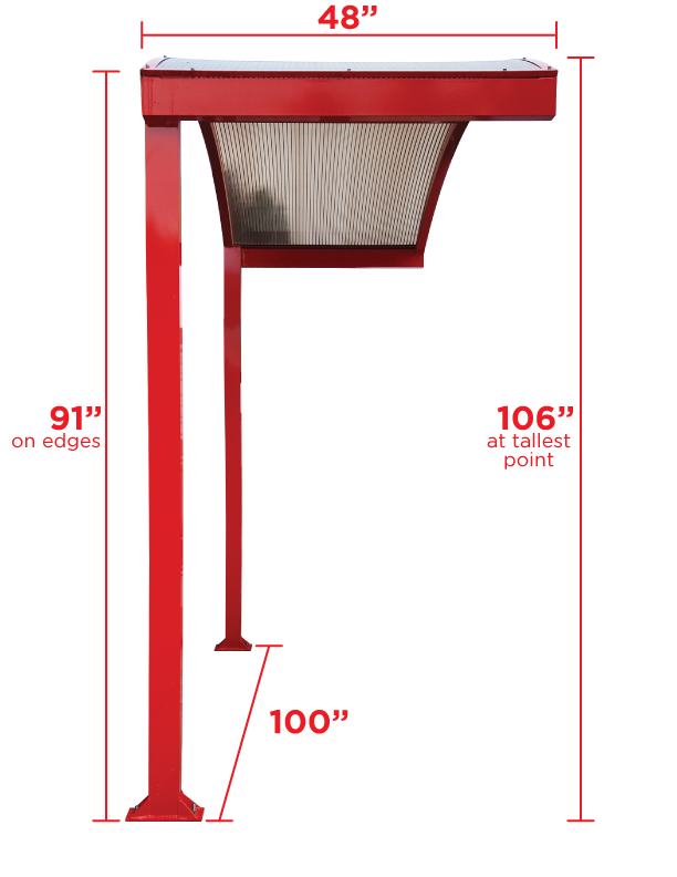 Pet Wash Under Awning with Measurements