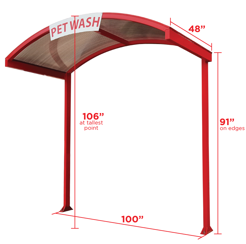 Awning with Measurements