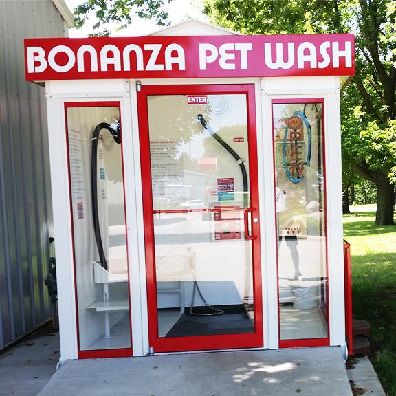 Bonanza Pet Wash Unit and shelter