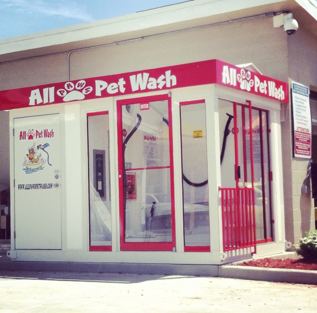 All paws pet wash vending stations all paws pet wash for Diy dog bathing system