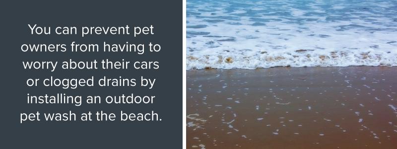 Install pet wash at the beach
